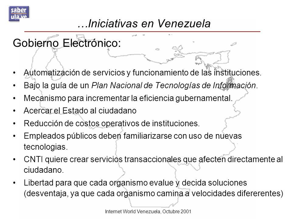…Iniciativas en Venezuela