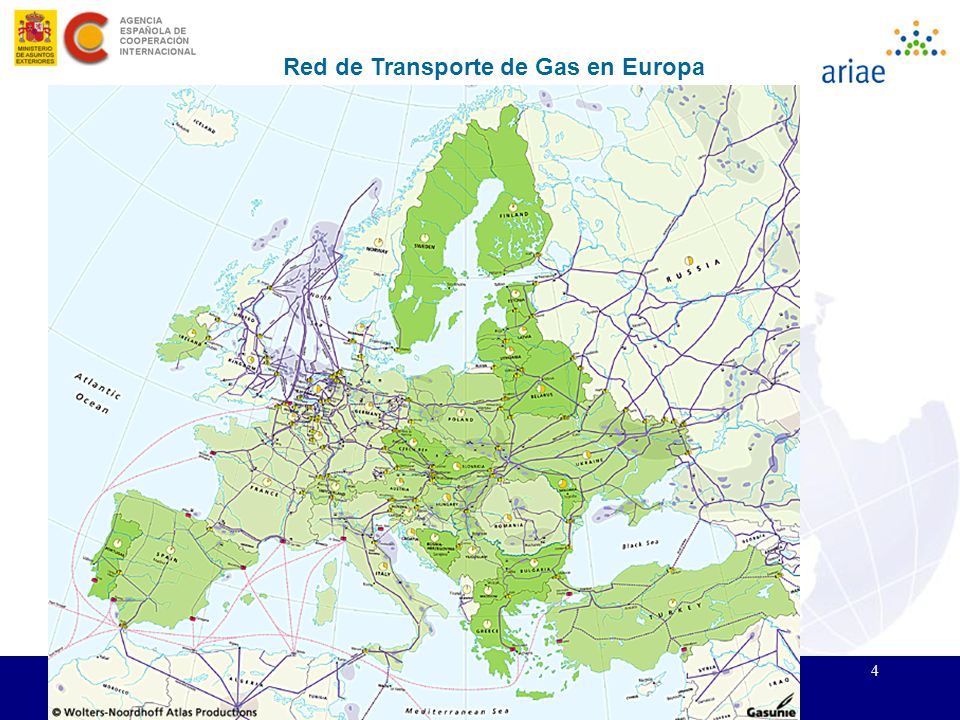 Red de Transporte de Gas en Europa