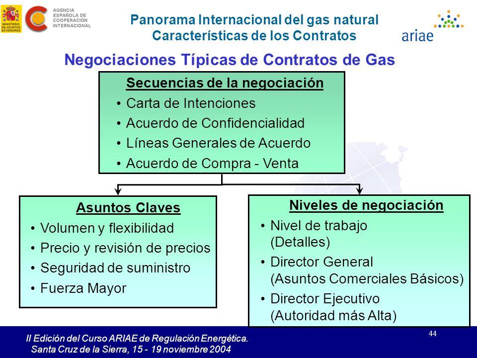 Negociaciones Típicas de Contratos de Gas