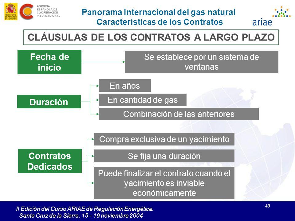CLÁUSULAS DE LOS CONTRATOS A LARGO PLAZO