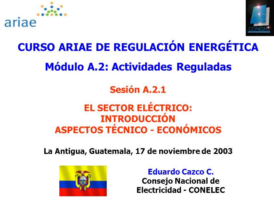CURSO ARIAE DE REGULACIÓN ENERGÉTICA Módulo A.2: Actividades Reguladas