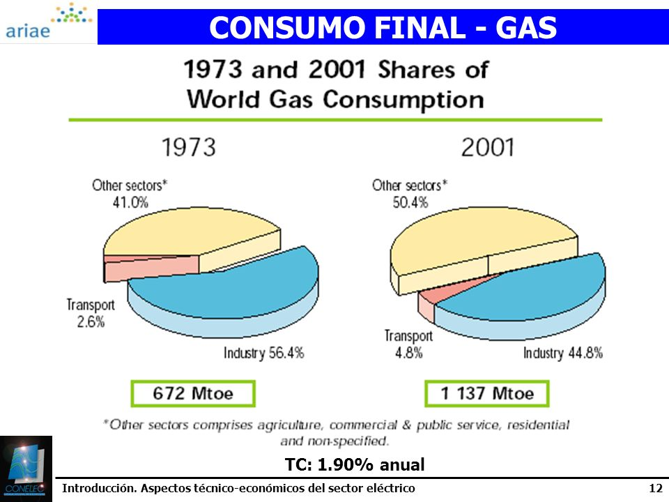 CONSUMO FINAL - GAS TC: 1.90% anual