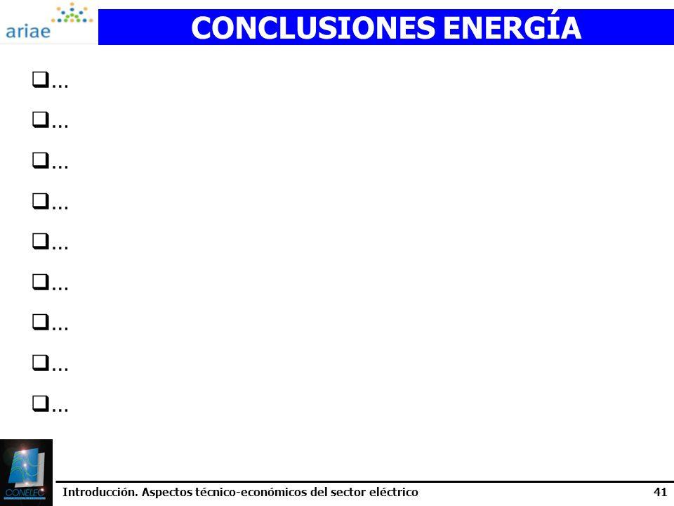 CONCLUSIONES ENERGÍA …