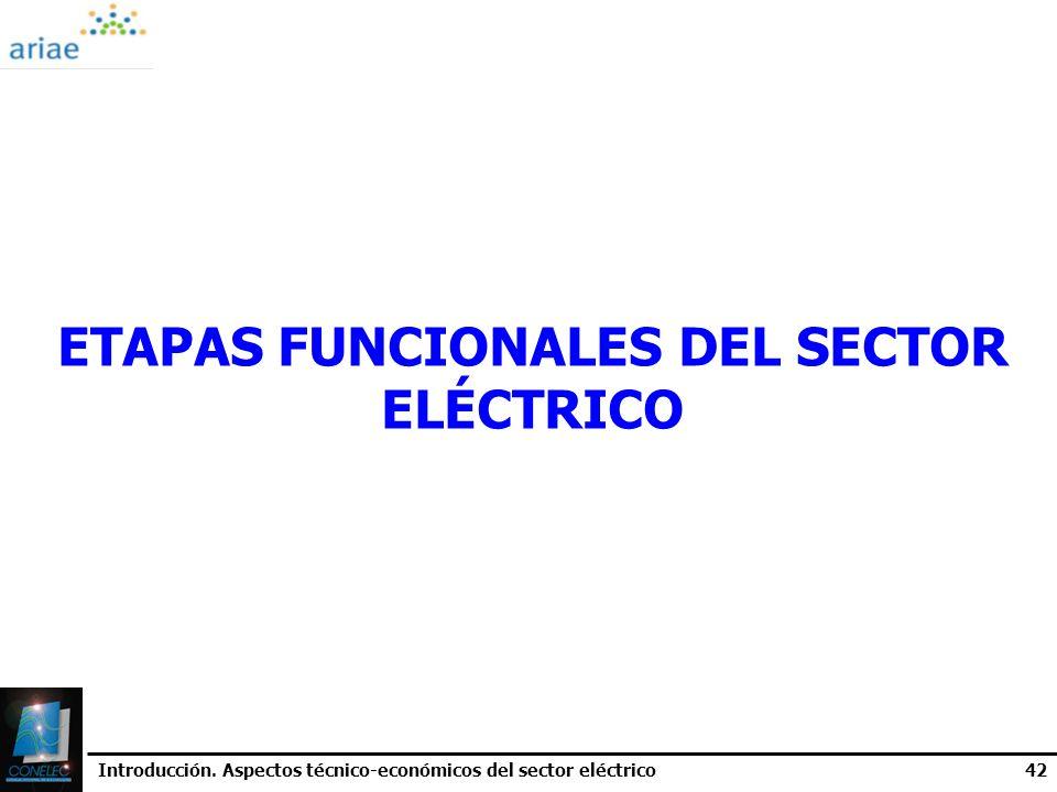 ETAPAS FUNCIONALES DEL SECTOR ELÉCTRICO
