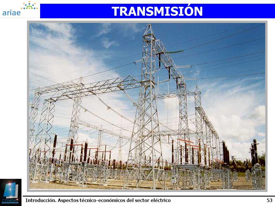 TRANSMISIÓN Introducción. Aspectos técnico-económicos del sector eléctrico