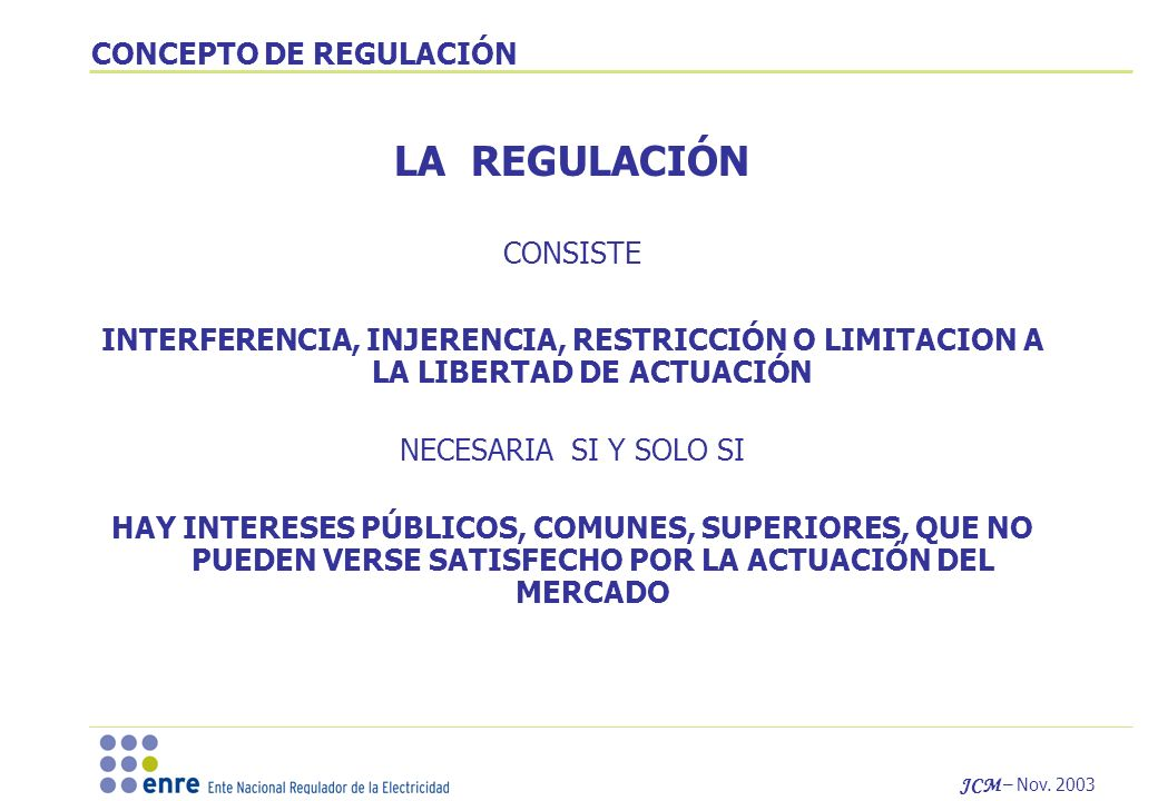 CONCEPTO DE REGULACIÓN