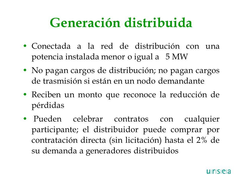 Generación distribuida