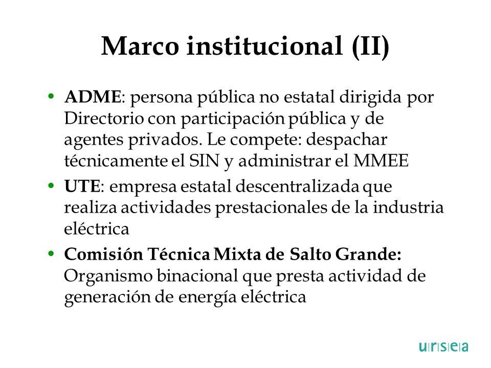 Marco institucional (II)