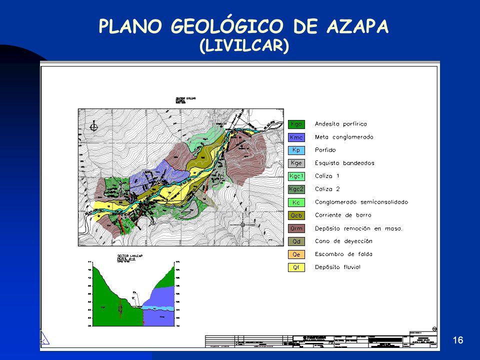 PLANO GEOLÓGICO DE AZAPA (LIVILCAR)