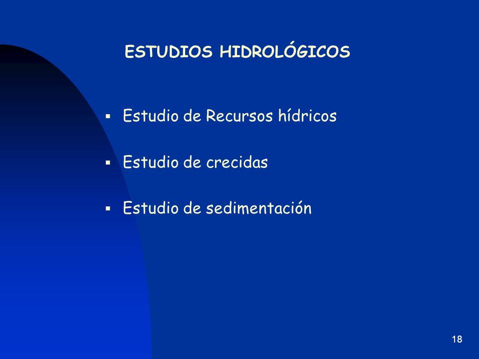 ESTUDIOS HIDROLÓGICOS