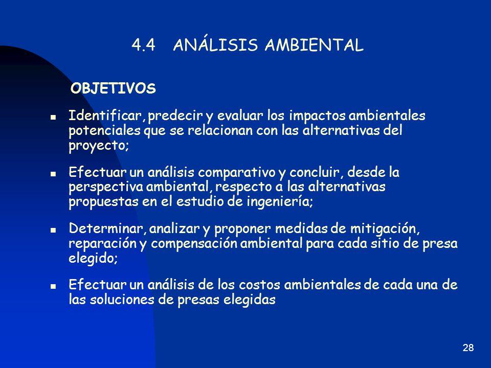 4.4 ANÁLISIS AMBIENTAL OBJETIVOS