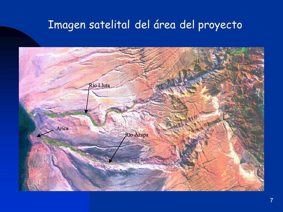 Imagen satelital del área del proyecto