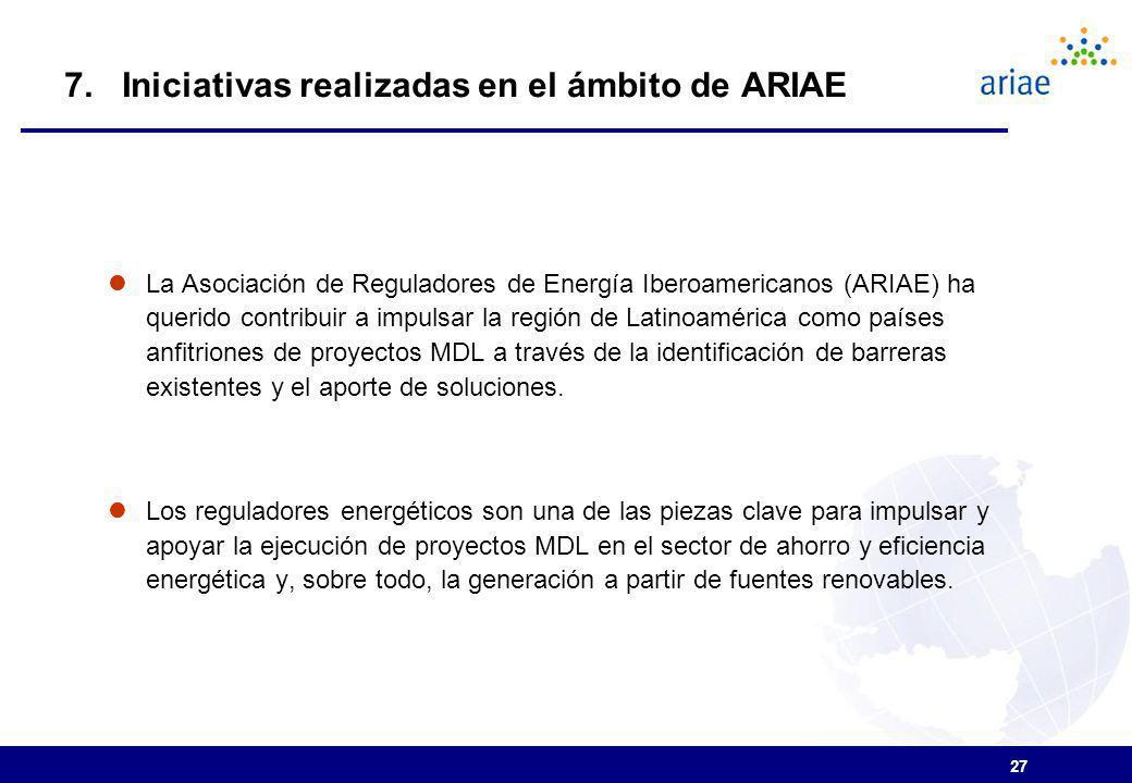 7. Iniciativas realizadas en el ámbito de ARIAE