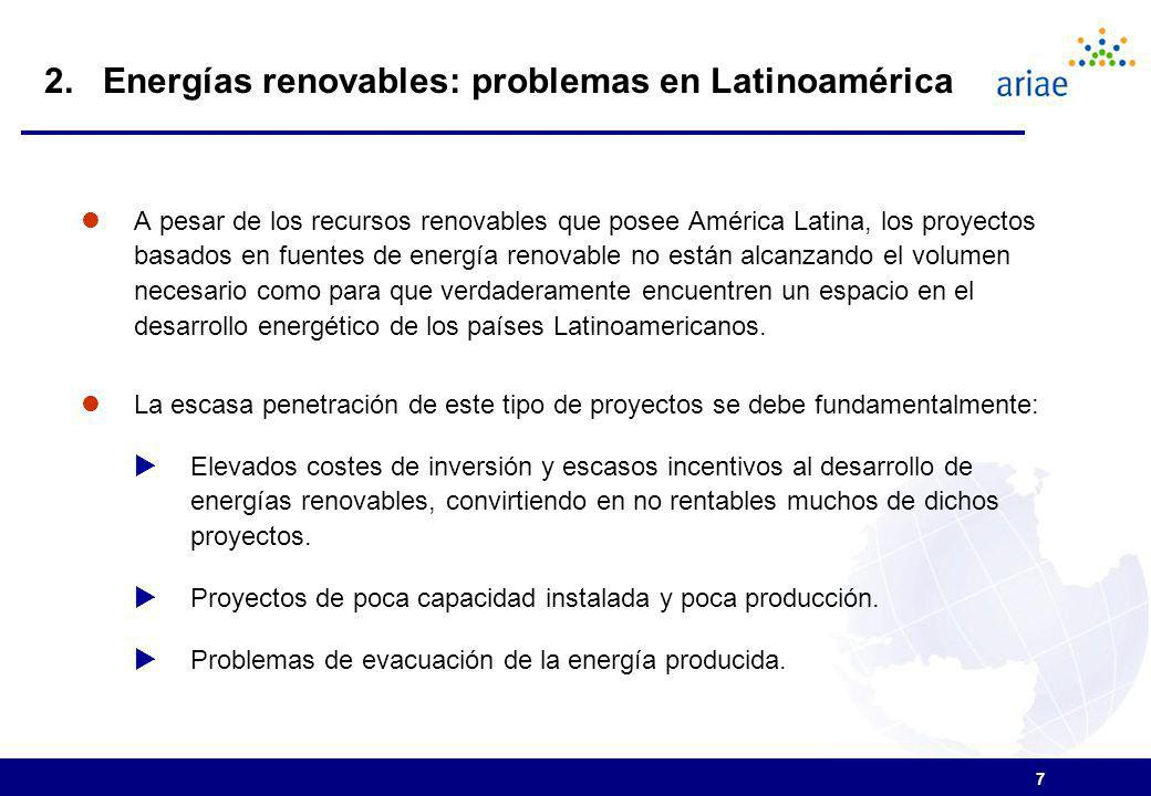 2. Energías renovables: problemas en Latinoamérica