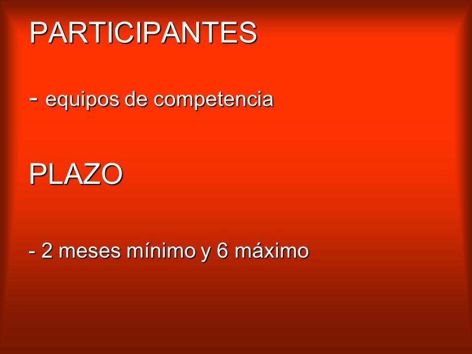 PARTICIPANTES - equipos de competencia