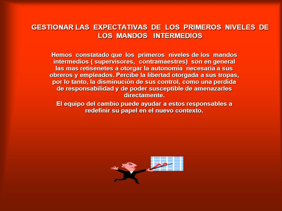 GESTIONAR LAS EXPECTATIVAS DE LOS PRIMEROS NIVELES DE LOS MANDOS INTERMEDIOS