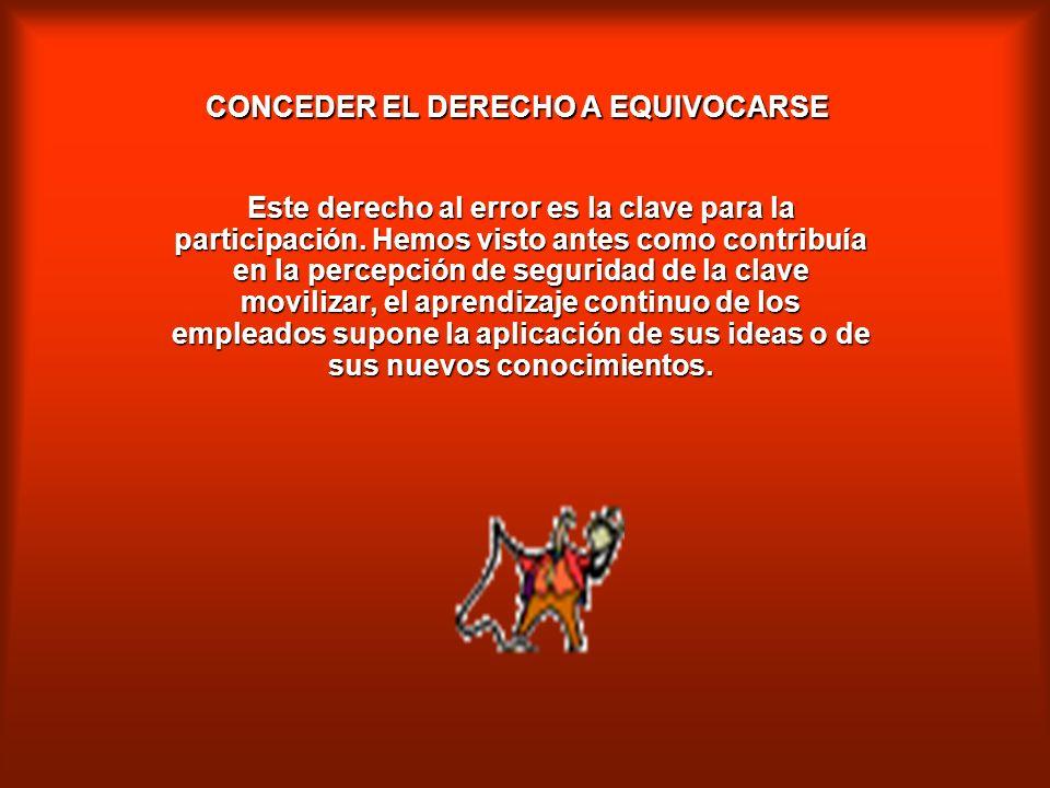 CONCEDER EL DERECHO A EQUIVOCARSE