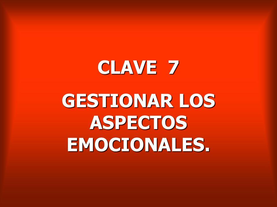 GESTIONAR LOS ASPECTOS EMOCIONALES.