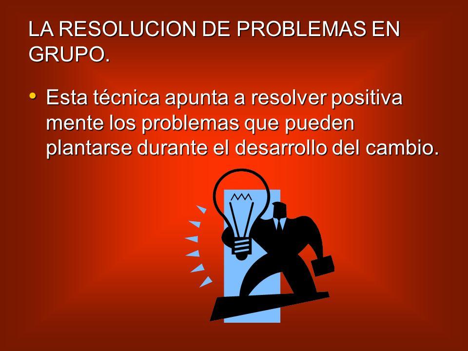 LA RESOLUCION DE PROBLEMAS EN GRUPO.