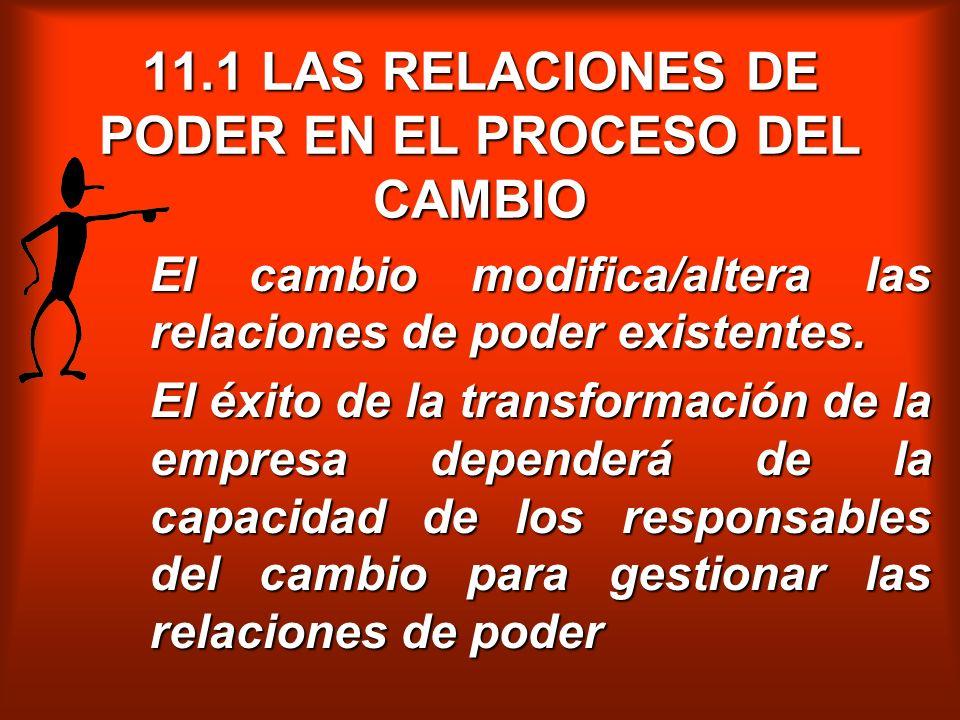 11.1 LAS RELACIONES DE PODER EN EL PROCESO DEL CAMBIO