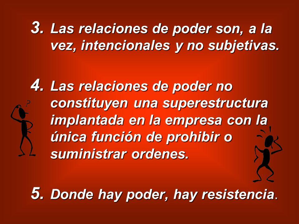 Las relaciones de poder son, a la vez, intencionales y no subjetivas.