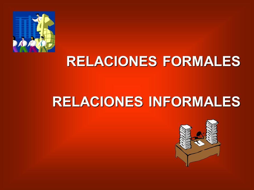 RELACIONES FORMALES RELACIONES INFORMALES