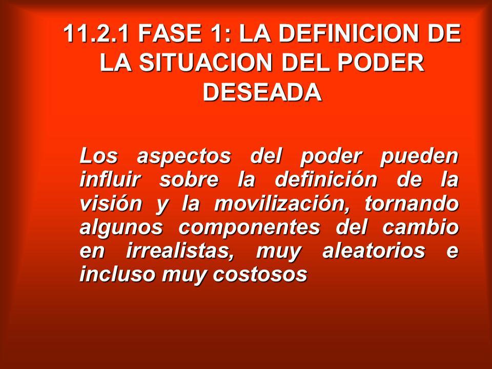 11.2.1 FASE 1: LA DEFINICION DE LA SITUACION DEL PODER DESEADA