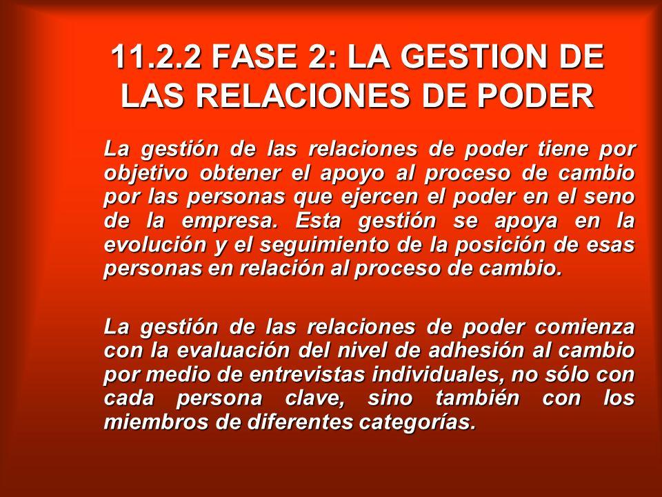 11.2.2 FASE 2: LA GESTION DE LAS RELACIONES DE PODER