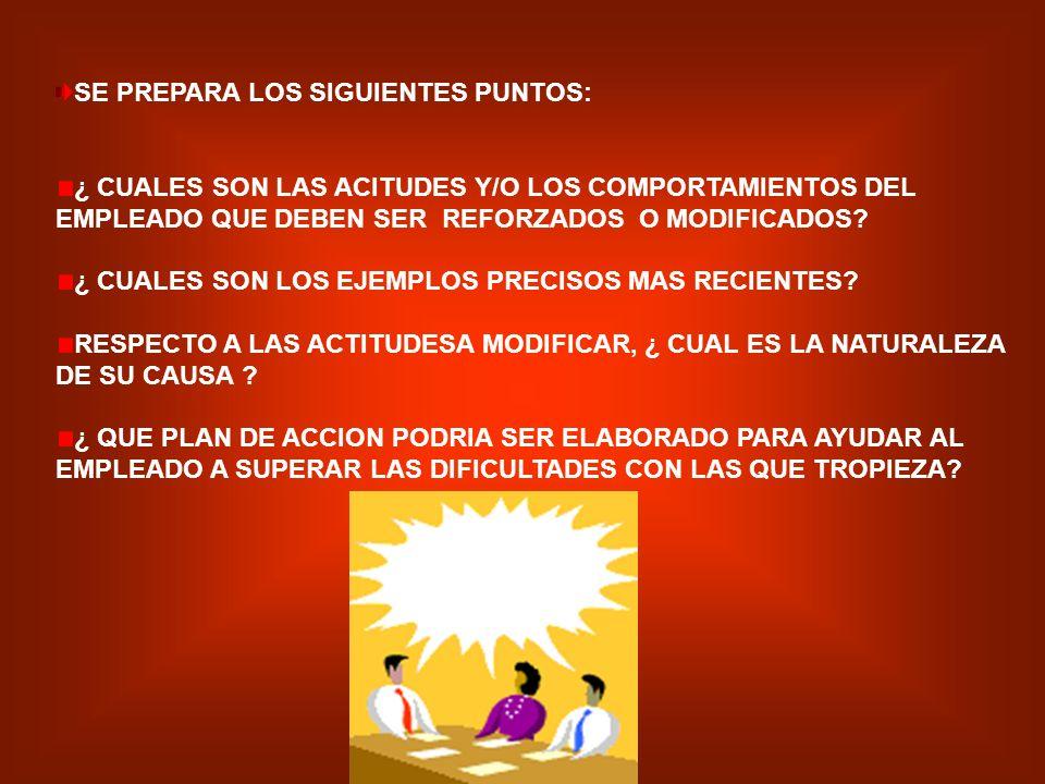 SE PREPARA LOS SIGUIENTES PUNTOS: