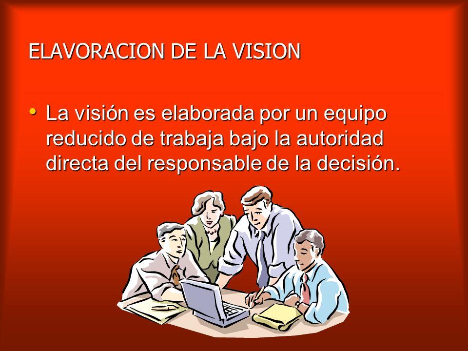 ELAVORACION DE LA VISION