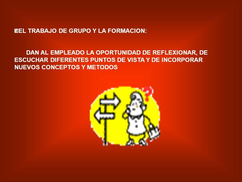 EL TRABAJO DE GRUPO Y LA FORMACION: