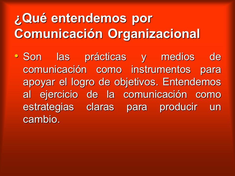 ¿Qué entendemos por Comunicación Organizacional