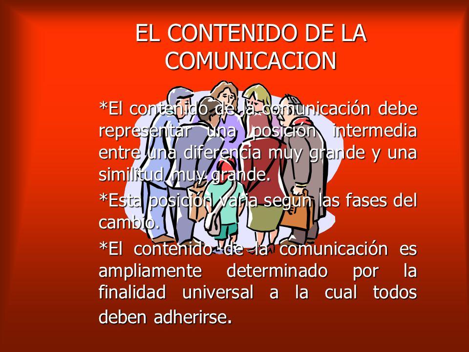EL CONTENIDO DE LA COMUNICACION