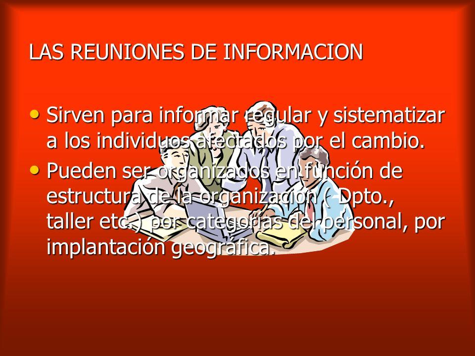 LAS REUNIONES DE INFORMACION