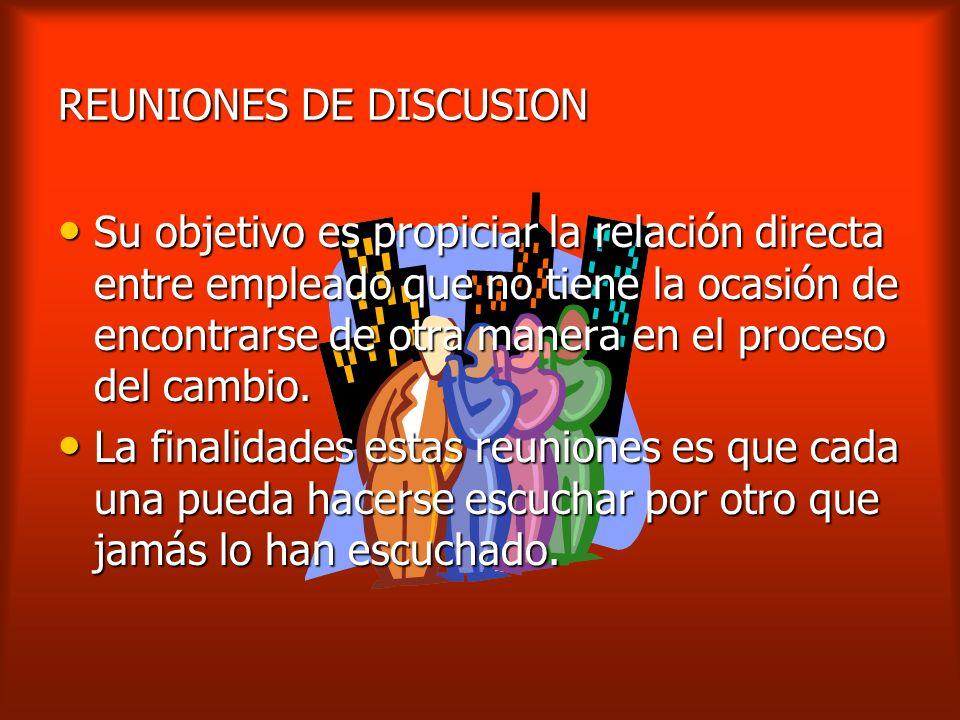 REUNIONES DE DISCUSION