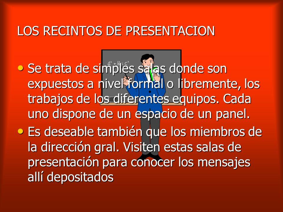 LOS RECINTOS DE PRESENTACION