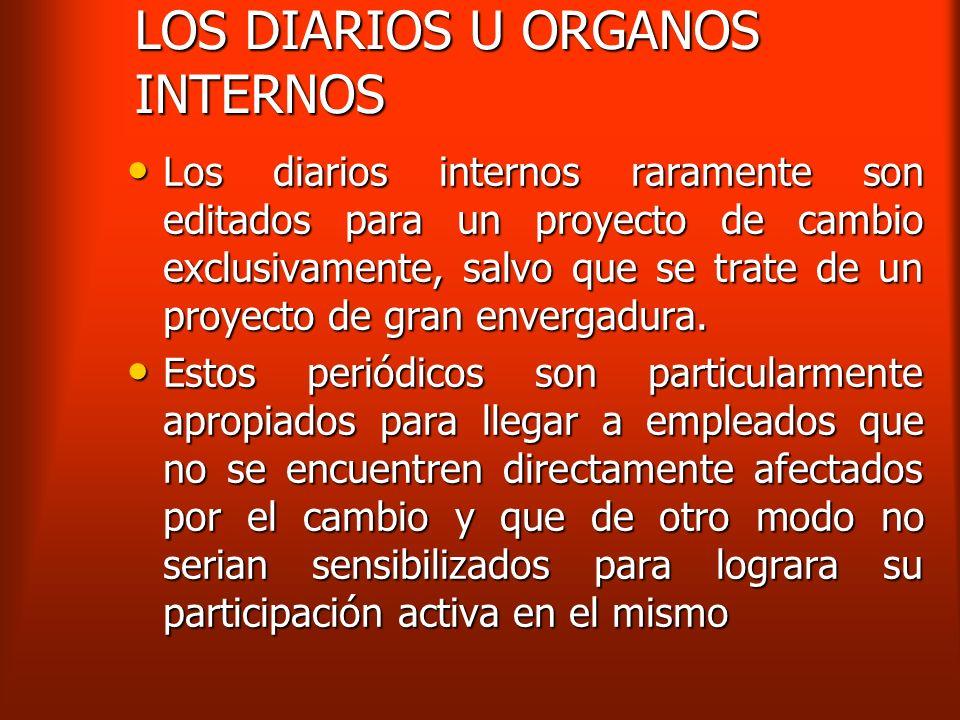 LOS DIARIOS U ORGANOS INTERNOS