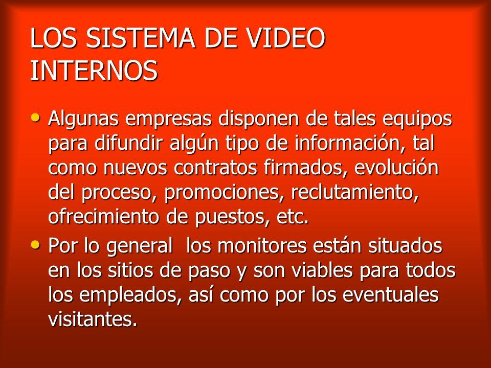 LOS SISTEMA DE VIDEO INTERNOS