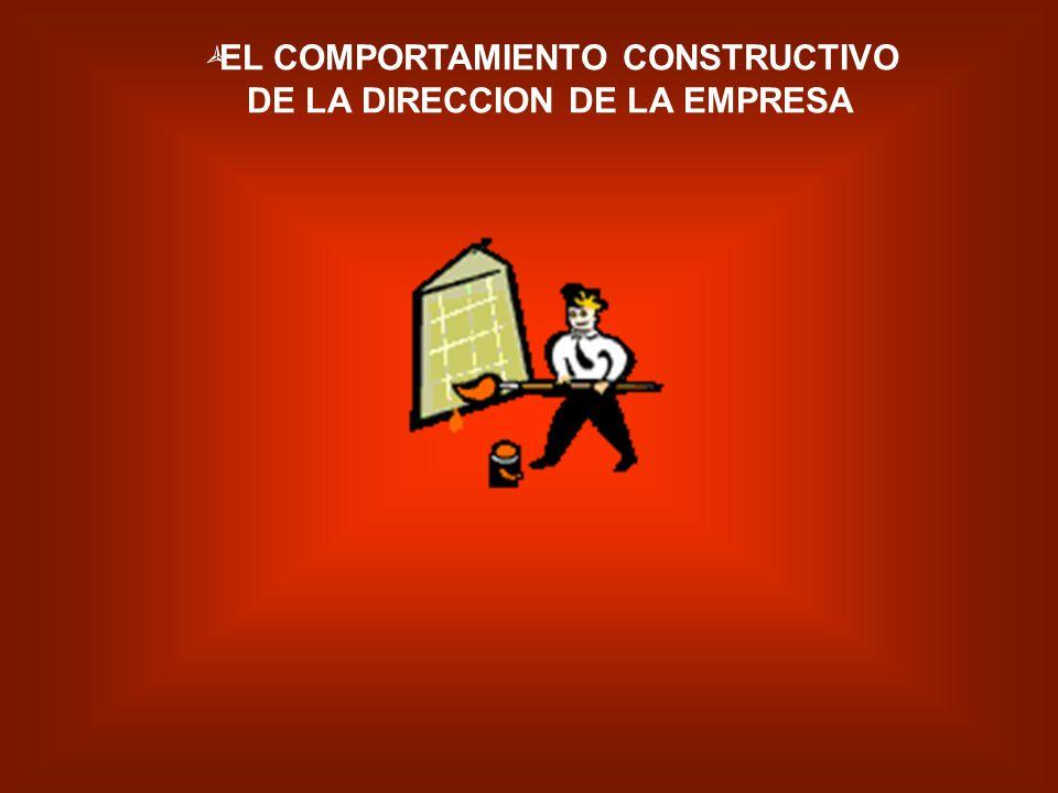 EL COMPORTAMIENTO CONSTRUCTIVO DE LA DIRECCION DE LA EMPRESA