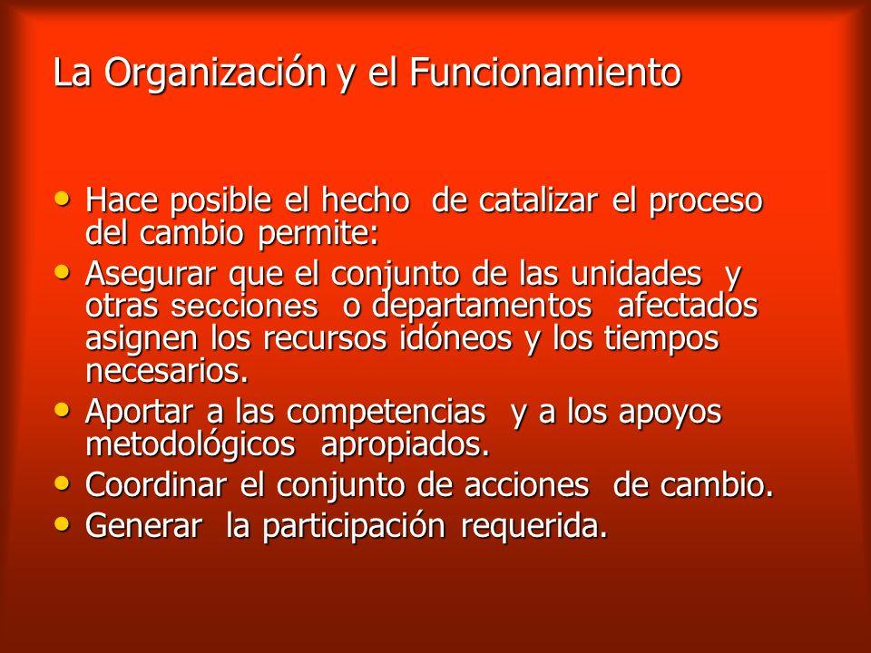 La Organización y el Funcionamiento