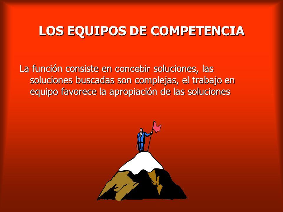 LOS EQUIPOS DE COMPETENCIA