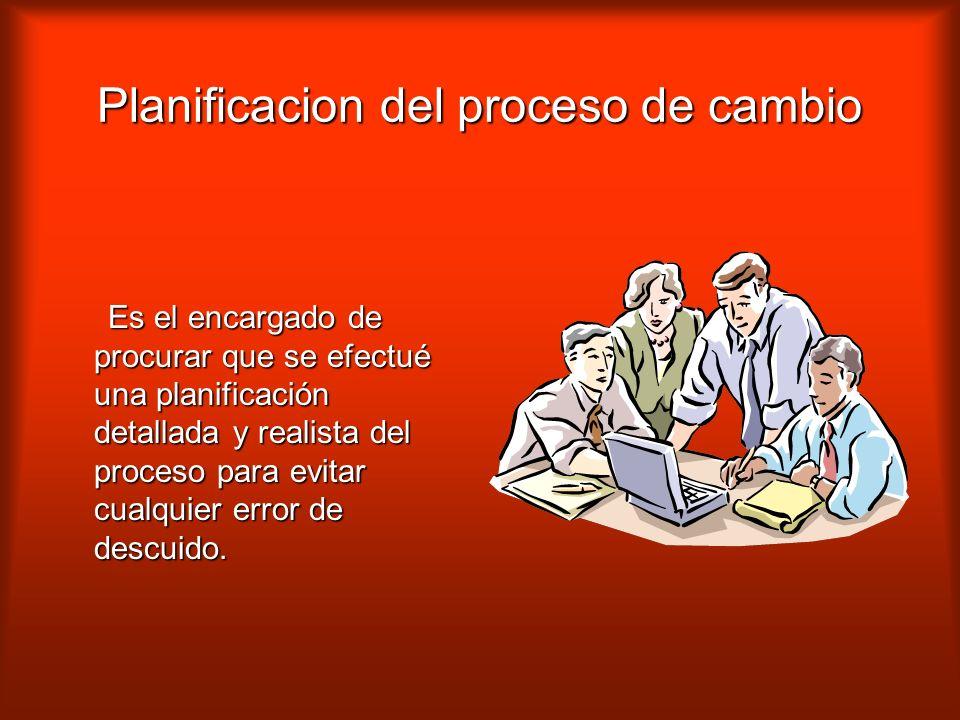 Planificacion del proceso de cambio