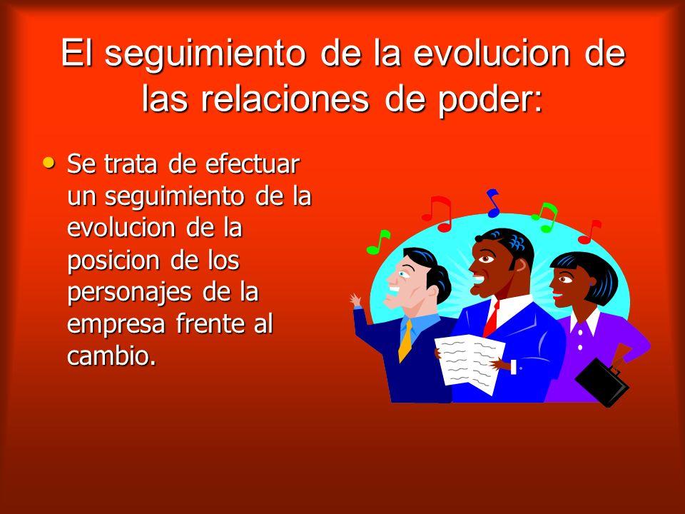 El seguimiento de la evolucion de las relaciones de poder: