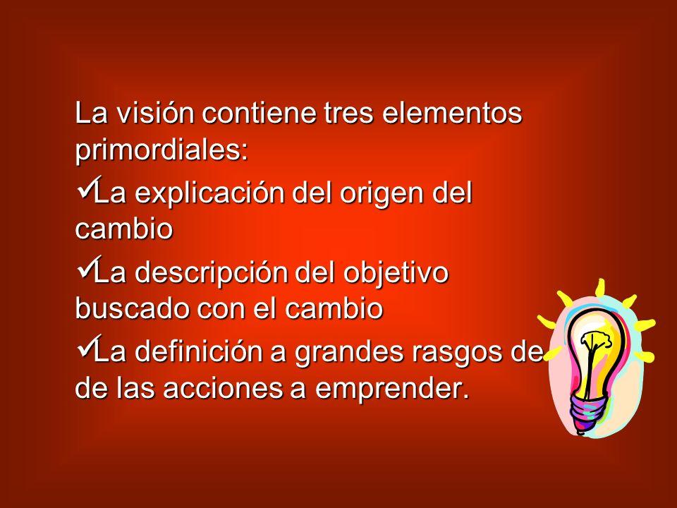 La visión contiene tres elementos primordiales: