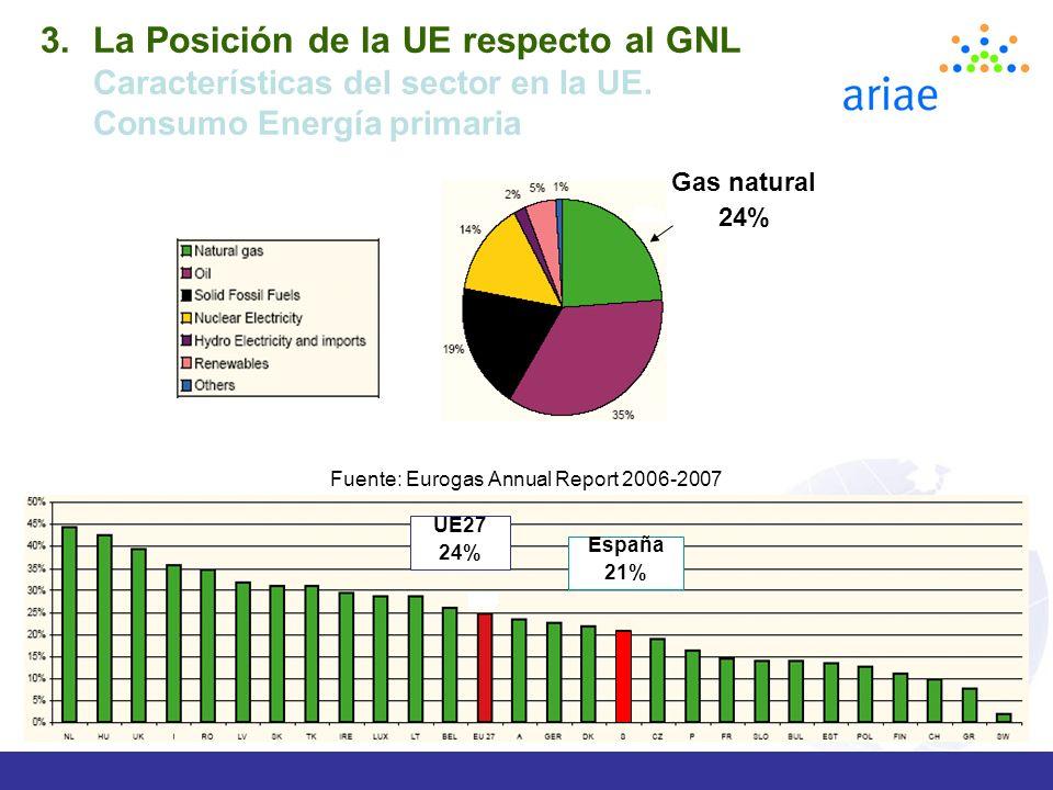 Fuente: Eurogas Annual Report 2006-2007