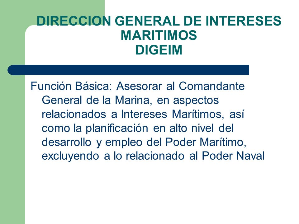 DIRECCION GENERAL DE INTERESES MARITIMOS DIGEIM