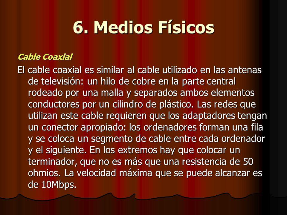 6. Medios Físicos Cable Coaxial.