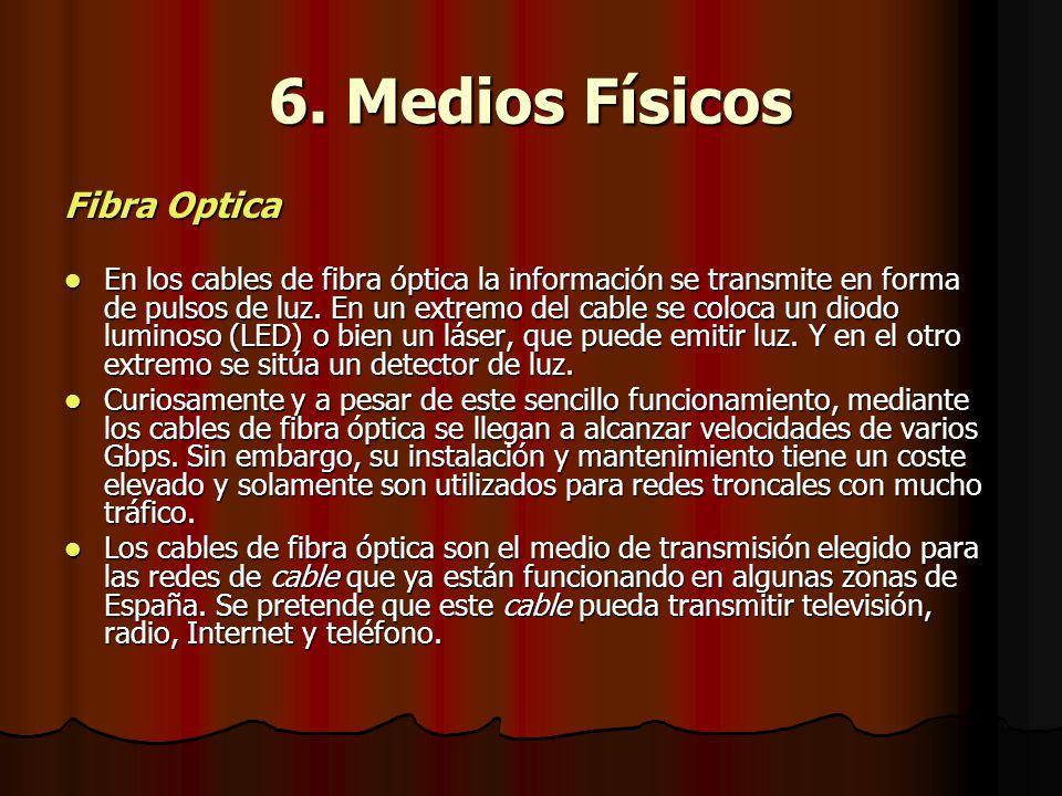 6. Medios Físicos Fibra Optica