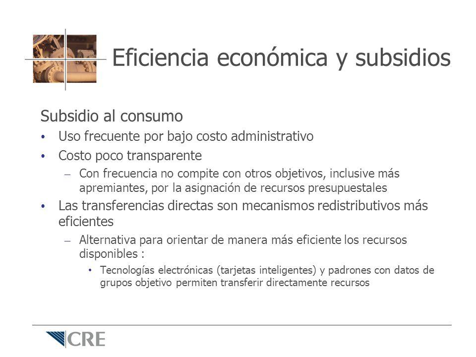 Eficiencia económica y subsidios
