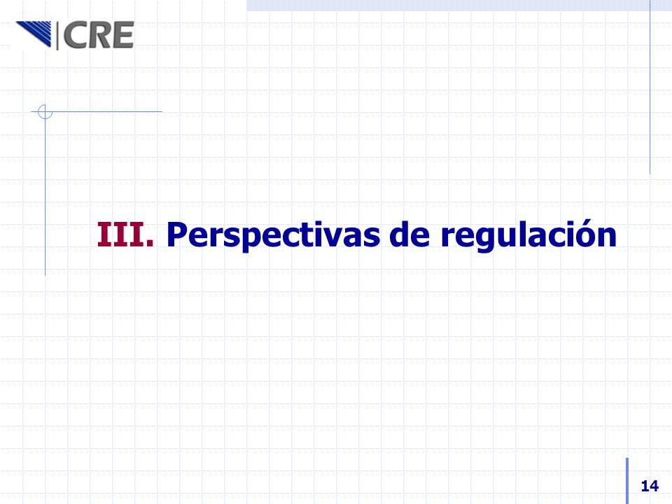 Perspectivas de regulación